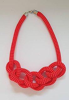Náhrdelníky - Lanový náhrdelník  svietivá bodka - 11106262_