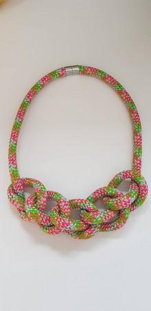 Náhrdelníky - Lanový náhrdelník farebný - 11106304_