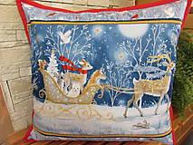 Úžitkový textil - Vankúšik Malý sob Vianoce v lese - 11105199_