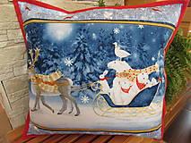 Úžitkový textil - Vankúšik Veľký sob Vianoce v lese - 11105203_