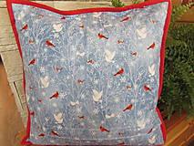 Úžitkový textil - Vankúšik Snehuliak Vianoce v lese - 11105215_