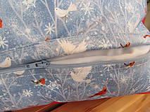Úžitkový textil - Vankúšik Snehuliak Vianoce v lese - 11105216_