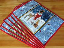 Úžitkový textil - Prestieranie Vianoce v lese set - 11105220_