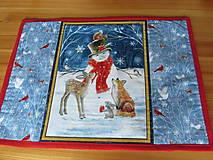 Úžitkový textil - Prestieranie Vianoce v lese set - 11105221_