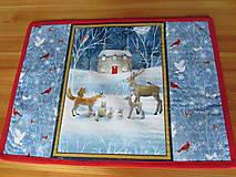 Úžitkový textil - Prestieranie Vianoce v lese set - 11105222_