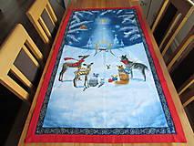 Úžitkový textil - Obrus Vianoce v lese - 11105242_
