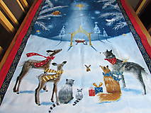 Úžitkový textil - Obrus Vianoce v lese - 11105243_