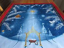 Úžitkový textil - Obrus Vianoce v lese - 11105244_
