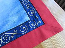 Úžitkový textil - Obrus Vianoce v lese - 11105245_