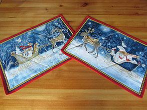 Úžitkový textil - Veľký a malý sob prestieranie Vianoce v lese B - 11105231_
