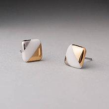 Náušnice - porcelánové náušnice | zlato, platina, chirurgická oceľ - 11107343_