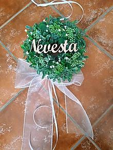 """Dekorácie - Svadobný venček greenery na dvere """"Nevesta"""" - 11106521_"""