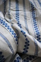 Textil - Komplet hačka - modrý ornament v pásoch - 11109486_