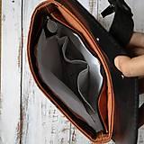 Batohy - Textilno-kožený batoh Hugo (Líštičky) - 11106871_