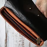 Batohy - Textilno-kožený batoh Hugo (Líštičky) - 11106873_