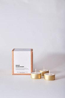 Svietidlá a sviečky - Čajové sviečky - Sójové / 20ks - 11109764_