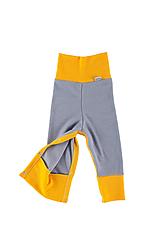 Detské oblečenie - Merino rastúce nohavice s druky: VZORNÍK - 11105632_