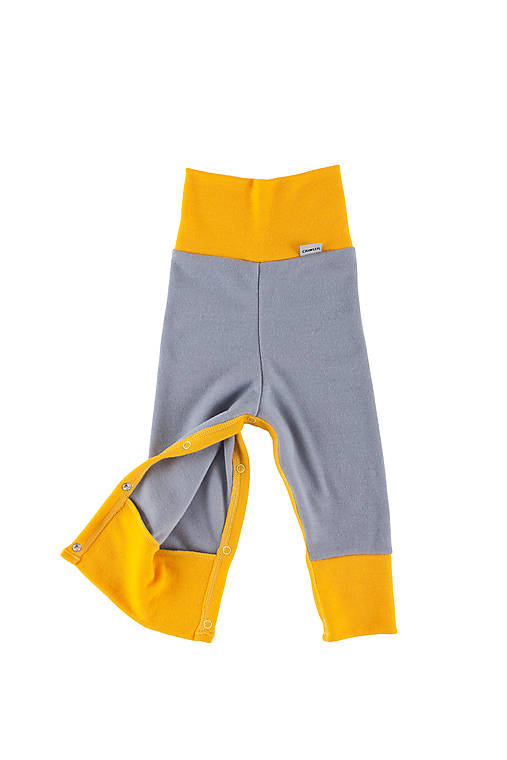 Merino rastúce nohavice s druky: VZORNÍK