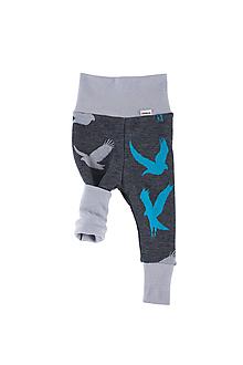 Detské oblečenie - Merino rastúce nohavice OBOUSTRANNÉ: VZORNÍK - 11105425_