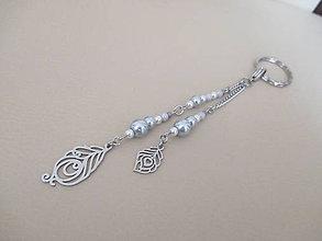Kľúčenky - DVE PIERKa - kľúčenka alebo šperková dekorácia - chirurgická oceľ - 11107612_