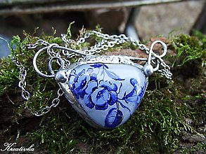 Náhrdelníky - O modrej ruži...... - 11107090_