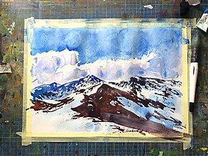 Obrazy - Sneh v horách - 11107141_