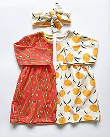 Detské oblečenie - Šaty Agnes (Pomaranče) - 11107232_