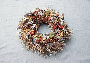 Dekorácie - Jesenný veniec (s makovičkami) - 11109245_