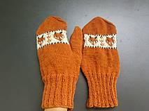 Rukavice - P a l č i a k y / ..líštičky v oranžovej - 11107825_