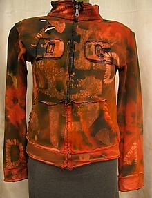 Mikiny - dámska mikina na zips absolut crazy handmade - 11105312_