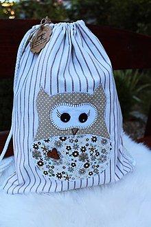 Detské tašky - Detský batôžtek sovička - 11105502_