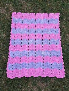 Textil - Detská deka VLNKY (XL) (Ružová) - 11105605_
