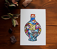 Kresby - Vo fľaštičke II. - 11108249_