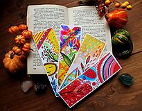 Papiernictvo - Farby jesene - sada záložiek - 11108468_