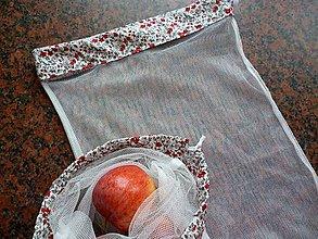 Úžitkový textil - Vrecúška, pytlíky kytičky - sada 4 ks - 11107103_