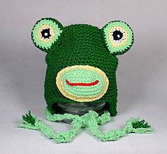 Detské čiapky - Čiapka žaba - 11108717_