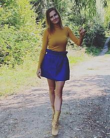 Sukne - Bavlnená sukňa NAVY - 11106977_