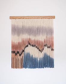 """Dekorácie - Nástenná dekorácia z dreva a vlny """"Pastelové pobrežie"""" - 11107467_"""