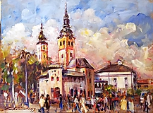 Obrazy - Banská Bystrica - námestie - 11108827_