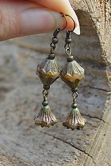 Náušnice - * Vintage náušnice zo sklenených korálok * - 11108896_