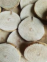 Polotovary - Drevené kolieska bez kôry - priemer 4,5 cm - 11105716_