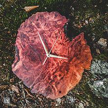 Hodiny - ART - Phoenix - Red Mallee-ové drevené hodiny - 11105163_