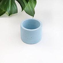 Dekorácie - Modrý betónový kvetináč - M - 11107783_