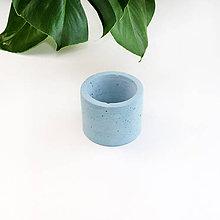 Nádoby - Modrý betónový kvetináč - S - 11107805_