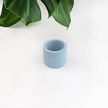 Nádoby - Modrý betónový kvetináč - XS - 11107811_