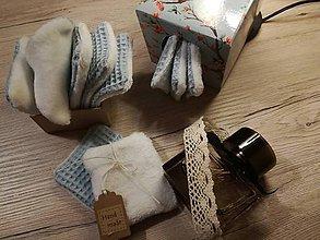 Úžitkový textil - Odličovacie vankúšiky - pampúšiky farba BLEDOMODRÁ - 11108833_