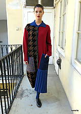 Kabáty - VITKA-pletený kabát-vícebarevný - 11106611_