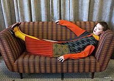 Kabáty - VITKA-pletený kabát-vícebarevný - 11106615_