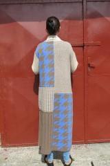 Kabáty - VITKA-pletený kabát-vícebarevný - 11106625_