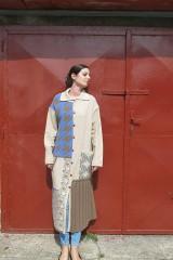 Kabáty - VITKA-pletený kabát-vícebarevný - 11106626_